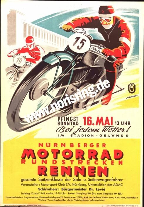1948 03. Nürnberger Motorrad Rundstrecken-Rennen-
